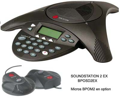 POLYCOM TELEPHONE DE CONFERENCE SOUNDSTATION 2EX  (EXTENSIBLE)