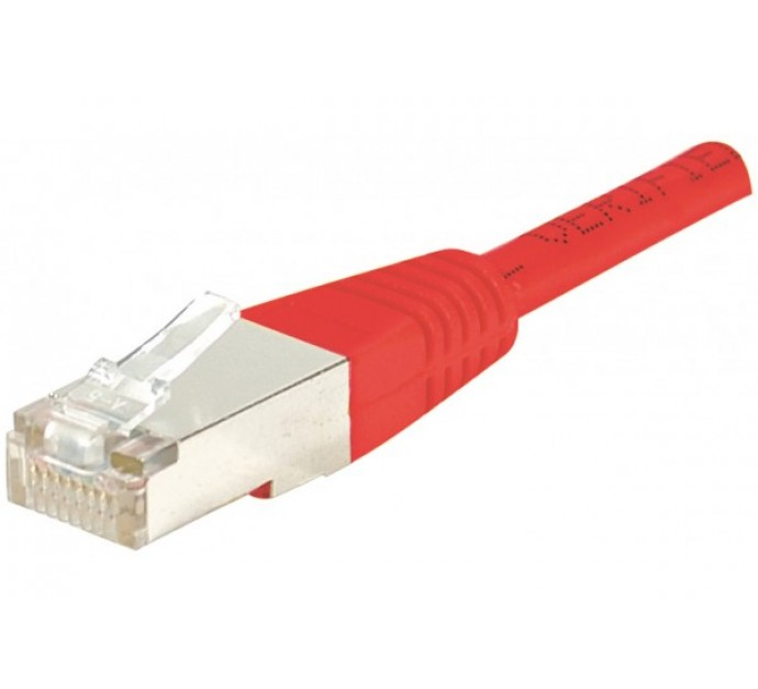 CORDON RJ 45 CAT 6 F/UTP 1 M ROUGE